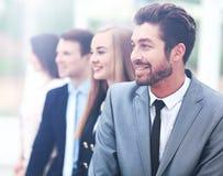 Grupa ludzie biznesu ono uśmiecha się w biurze Zdjęcia Royalty Free
