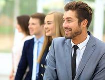 Grupa ludzie biznesu ono uśmiecha się w biurze Fotografia Stock
