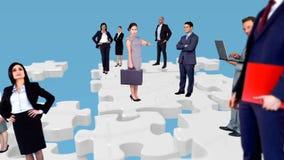 Grupa ludzie biznesu spotykać