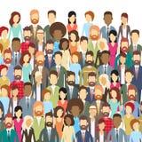 Grupa ludzie biznesu Stawia czoło Dużych tłumów biznesmenów ilustracji