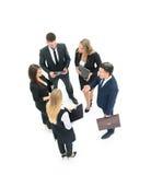 Grupa ludzie biznesu target184_0_ Odizolowywający na białym backgroun Obrazy Stock