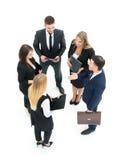 Grupa ludzie biznesu target184_0_ Odizolowywający na białym backgroun Zdjęcia Royalty Free