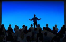 Grupa ludzie biznesu w Biznesowej prezentaci Zdjęcia Stock