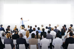 Grupa ludzie biznesu w Biznesowej prezentaci Fotografia Stock