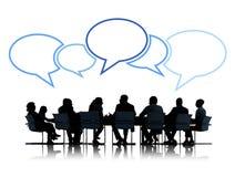 Grupa ludzie biznesu w spotkaniu ilustracja wektor