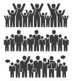 Grupa ludzie biznesu w trwanie pozyci ilustracji