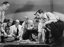 Grupa mężczyzna uprawiać hazard zdjęcie stock
