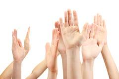 Grupa młodego people ręki zdjęcie stock
