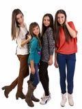 Grupa młodzi wieki dojrzewania Obraz Royalty Free