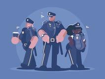Grupa milicyjny mężczyzna i kobieta ilustracji