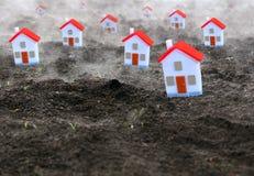 Grupa miniaturowi domy zdjęcie stock