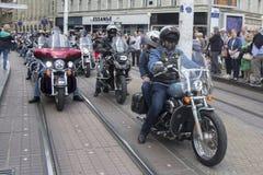 Grupa motocyklu Harley Davidson fan w Zagreb fotografia stock