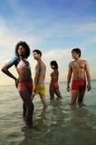 grupa multiracial young Zdjęcia Royalty Free