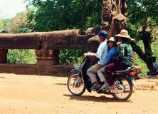 Grupa na motocyklu Zdjęcia Royalty Free