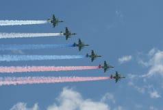 Grupa napadu samolot Sukhoi Su-25 Grach (NATO-WSKI reportażu imię: Frogfoot) Obrazy Royalty Free