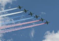 Grupa napadu samolot Sukhoi Su-25 Grach (NATO-WSKI reportażu imię: Frogfoot) Fotografia Royalty Free