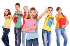 Grupa nastoletni ludzie. zdjęcie stock