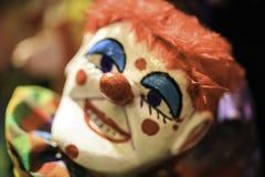 Grupa niciane marionetki w teatrze fotografia stock