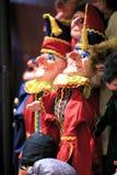 Grupa niciane marionetki w teatrze obraz royalty free