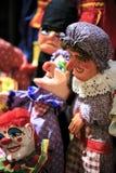 Grupa niciane marionetki w teatrze zdjęcie stock