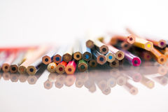 Grupa nierzeczowi barwioni ołówki Zdjęcia Royalty Free