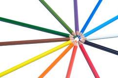 Grupa ołówka odosobniony biały tło Fotografia Stock