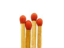 Grupa odizolowywająca matchstick zbliżenie Fotografia Stock