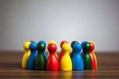 Grupa, okrąg przyjaciele, różnorodność, zlany pojęcie Zdjęcie Royalty Free
