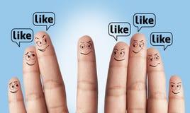 Grupa palec lubi Zdjęcie Royalty Free