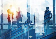 Grupa patrzeje dla przyszłości partner biznesowy Pojęcie korporacyjny i początkowy fotografia royalty free