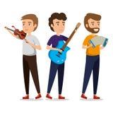 Grupa persons w koncercie ilustracji