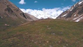 Grupa podróżnicy w górach zdjęcie wideo