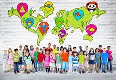 Grupa Podstawowi Starzejący się dzieci zdjęcia stock