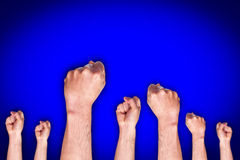 Grupa pokazuje pięść ludzka ręka Obraz Royalty Free