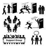 Grupa Pomocy Spotyka Cliparts ikony ilustracji
