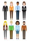Grupa pracujący ludzi różnorodność, różnorodni biznesowi mężczyzna i busi, ilustracja wektor