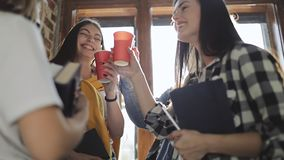 Grupa przyjaciel Ma Dobrego czas Podczas gdy Pijący zdjęcie wideo