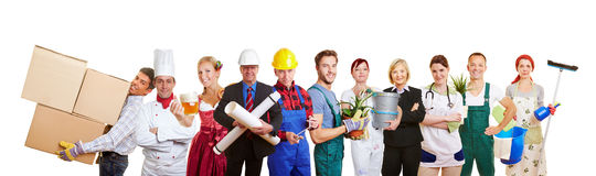Grupa różni profesions obraz stock