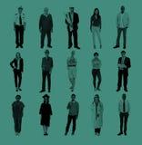 Grupa Różnorodnego zajęcia pojęcia Rozochoceni ludzie Obrazy Stock