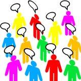 Grupa różnorodni ludzie rozmów ilustracji