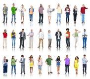 Grupa Różnorodni ludzie Używa Cyfrowych przyrząda zdjęcie stock