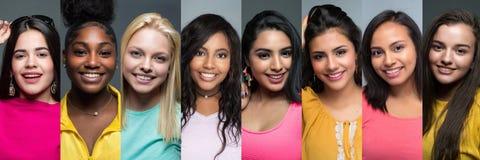 Grupa Różnorodne Nastoletnie dziewczyny Fotografia Stock