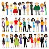 Grupa różnorodni ludzie Zdjęcia Royalty Free