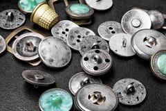 Grupa retro żelazni guziki zdjęcie stock