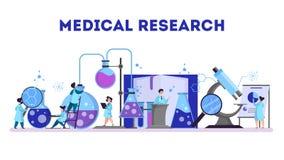 Grupa robi badania medyczne naukowiec laboratorium ilustracji