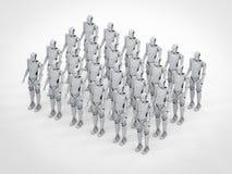 Grupa roboty royalty ilustracja