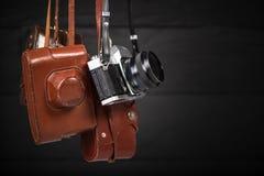Grupa rocznika 35mm kamery Zbierać antyki, aukcyjny temat zdjęcia royalty free