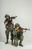 Grupa rosyjscy żołnierze Fotografia Stock