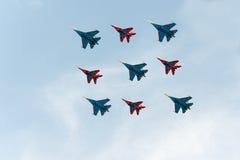 Grupa samoloty Zdjęcie Stock