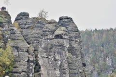 Grupa skały w kształtuje teren parka Fotografia Royalty Free